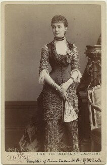 Princess Louise, Duchess of Connaught (née Princess of Prussia), by Alexander Bassano, 1880s - NPG  - © National Portrait Gallery, London