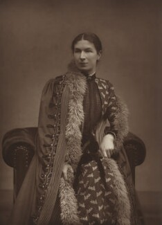 Mary Augusta Ward (née Arnold), by Herbert Rose Barraud, published by  Eglington & Co, published 1889 - NPG Ax5470 - © National Portrait Gallery, London