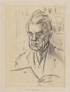 (William) Martin Conway, 1st Baron Conway of Allington, by Cicely Mary Hey - NPG D34001