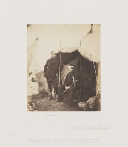 Captain Hume; Sir John Campbell Bt, by Roger Fenton - NPG Ax24906