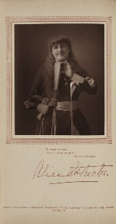 Alice Atherton in 'Oliver Grumble', by Herbert Rose Barraud, published by  Carson & Comerford, published 1 May 1886 - NPG Ax29393 - © National Portrait Gallery, London