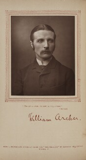 William Archer, by Herbert Rose Barraud, published by  Carson & Comerford - NPG Ax29394