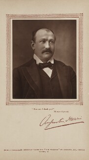 Sir Augustus Henry Glossop Harris, by Herbert Rose Barraud, published by  Carson & Comerford - NPG Ax29396
