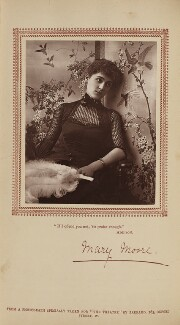 Mary Moore, by Herbert Rose Barraud, published by  Carson & Comerford - NPG Ax29799