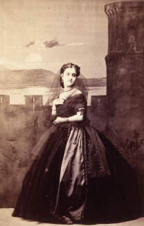 Adelina Patti as Leonora in 'Le Trouvère', by Camille Silvy, circa 1863 - NPG x21724 - © National Portrait Gallery, London