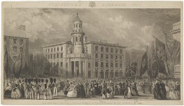 The opening of the new Coal Exchange (Prince Albert of Saxe-Coburg-Gotha), by Henry Adlard, after  John Francis Salmon - NPG D33707