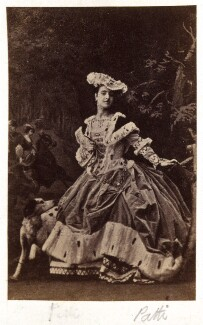 Adelina Patti as Martha in 'Martha', by Camille Silvy, July 1861 - NPG  - © National Portrait Gallery, London