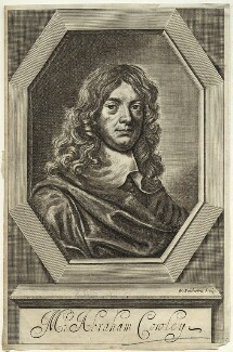 Abraham Cowley, by William Faithorne, after  Sir Peter Lely - NPG D33711