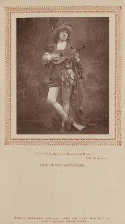 Grace Hawthorne, by Ernest Barraud, published by  Strand Publishing Company - NPG Ax9320