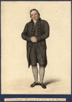William Dowton, by Robert Cooper, after  Samuel De Wilde - NPG D9309