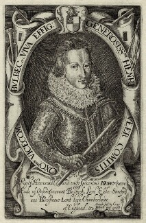 Henry de Vere, 18th Earl of Oxford, by Robert Vaughan, published by  Compton Holland - NPG D33727