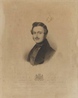 Prince Albert of Saxe-Coburg-Gotha, by Henry Thomas Ryall, printed by  McQueen (Macqueen), published by  Colnaghi and Puckle, after  Sir William Charles Ross - NPG D33743
