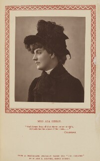Ada Rehan, by W. & D. Downey, published by  Strand Publishing Company - NPG Ax9326