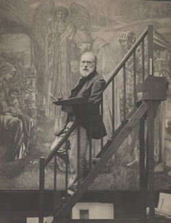 Sir Edward Coley Burne-Jones, 1st Bt, by Barbara Sotheby (née Leighton), printed by  Frederick Hollyer, 27 July 1890 - NPG x13185 - © National Portrait Gallery, London