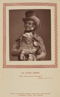 Arthur Roberts as Polydore Poupart in 'The Old Guard', by Herbert Rose Barraud, published by  Strand Publishing Company - NPG Ax9329