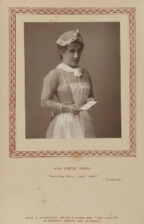 Lottie Venne, by Herbert Rose Barraud, published by  Strand Publishing Company, published 1 June 1889 - NPG Ax9345 - © National Portrait Gallery, London