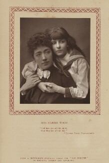 Marion Terry as Mrs Errol and Vera Beringer as Cedric Errol in 'The Real Little Lord Fauntleroy', by Herbert Rose Barraud, published by  Eglington & Co - NPG Ax9347