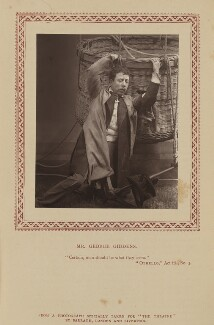 George Giddens as Dr Glynn in 'The Balloon', by Herbert Rose Barraud, published by  Eglington & Co - NPG Ax9348