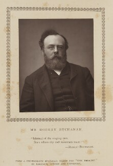 Robert Williams Buchanan, by Herbert Rose Barraud, published by  Eglington & Co - NPG Ax9358