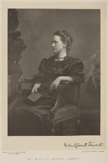 Dame Millicent Fawcett, by Walery, published by  Sampson Low & Co - NPG x9121