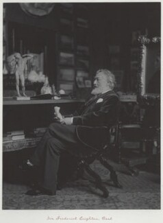 Frederic Leighton, Baron Leighton, by Ralph Winwood Robinson, published by  C. Whittingham & Co - NPG x7373