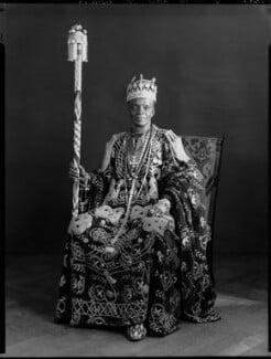 Ladapo Samuel Ademola II, King of Abeokuta, by Hay Wrightson, 11 June 1937 - NPG x132164 - © National Portrait Gallery, London