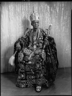 Ladapo Samuel Ademola II, King of Abeokuta, by Hay Wrightson - NPG x132168