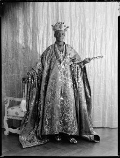 Ladapo Samuel Ademola II, King of Abeokuta, by Hay Wrightson - NPG x132175