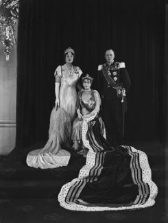 Princess Martha of Sweden; Maud, Queen of Norway; Olav V, King of Norway, by Hay Wrightson - NPG x44229