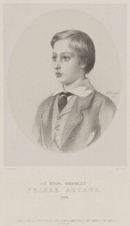 Prince Arthur, 1st Duke of Connaught and Strathearn, by Richard James Lane, printed by  M & N Hanhart, published by  John Mitchell, after  Albert Graefle - NPG D33797