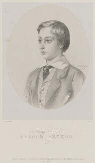 Prince Arthur, 1st Duke of Connaught and Strathearn, by Richard James Lane, printed by  M & N Hanhart, published by  John Mitchell, after  Albert Graefle - NPG D33798