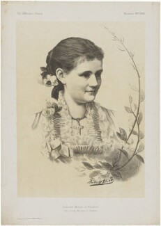 Princess Helen, Duchess of Albany, by Judd & Co, after  Rudolf Blind, published 1881 - NPG D33804 - © National Portrait Gallery, London