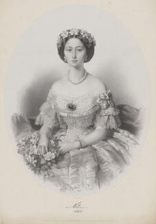 Princess Alice, Grand Duchess of Hesse, by James Henry Lynch, printed by  M & N Hanhart, published by  Paul and Dominic Colnaghi & Co, after  E. Moira - NPG D33821