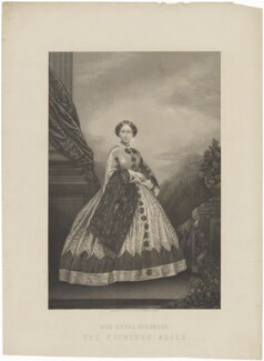 Princess Alice, Grand Duchess of Hesse, by Daniel John Pound, published by  Illustrated News of the World, after  John Jabez Edwin Mayall - NPG D33822