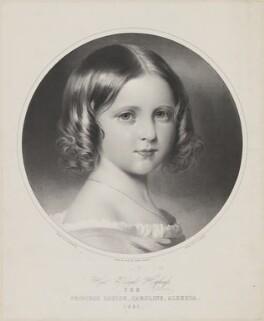 Princess Louise Caroline Alberta, Duchess of Argyll, by Thomas Fairland, printed by  M & N Hanhart, after  Franz Xaver Winterhalter - NPG D33823