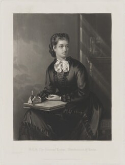 Princess Louise Caroline Alberta, Duchess of Argyll, by William Henry Simmons, published by  Henry Graves & Co, and published by  John Mitchell, after  Walter Rowland Holyoake - NPG D33824
