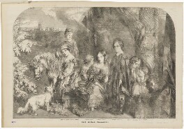 The seven oldest children of Queen Victoria, by Frederick James Smyth, published by  Illustrated London News, after  Unknown artist - NPG D33826