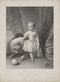 King Edward VII, by Alphonse Léon Noël, published by  Sir Francis Graham Moon, 1st Bt, after  Franz Xaver Winterhalter - NPG D33830
