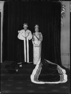 Prince George, Duke of Kent; Princess Marina, Duchess of Kent, by Hay Wrightson - NPG x132140