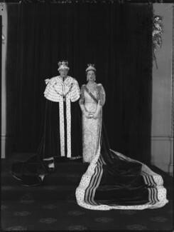 Prince George, Duke of Kent; Princess Marina, Duchess of Kent, by Hay Wrightson - NPG x132142