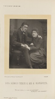 Sir George Alexander (George Samson) as George Addis; Marion Bessie Terry as Helen in 'Sunlight and Shadow', by Herbert Rose Barraud, published by  Eglington & Co - NPG Ax28814