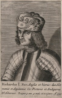 King Richard I ('the Lionheart'), probably after Renold or Reginold Elstrack (Elstracke) - NPG D33927