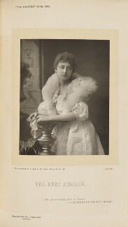 Mary Kingsley, by Alfred Ellis, published by  Eglington & Co, published 1 June 1892 - NPG Ax28834 - © National Portrait Gallery, London