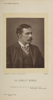 Herbert Waring (Herbert Waring Rutty), by Alfred Ellis, published by  Eglington & Co - NPG Ax28835