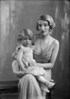 Hon. Sally Anne Marie Gabrielle Wilson (née Vivian); Victoria Ruth Mary Rosamund Vivian (née Oliphant), Lady Vivian, by Bassano Ltd - NPG x153932