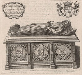 King John's tomb in Worcester Cathedral, after Unknown artist, published 1677 - NPG D33930 - © National Portrait Gallery, London