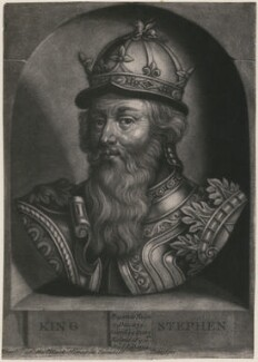 King Stephen, by John Faber Jr, after  Unknown artist - NPG D33881
