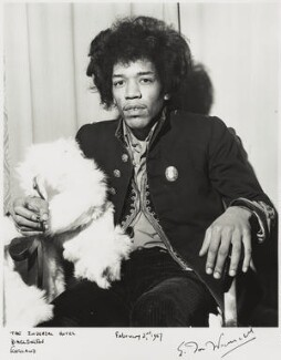 Jimi Hendrix, by Ian Wright, 2 February 1967 - NPG x132220 - © Ian Wright / National Portrait Gallery, London