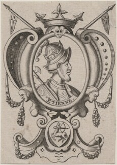 Fictitious portrait called King Stephen, after Renold or Reginold Elstrack (Elstracke) - NPG D33879