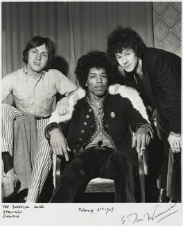 The Experience (Mitch Mitchell; Jimi Hendrix; Noel Redding), by Ian Wright, 2 February 1967 - NPG  - © Ian Wright / National Portrait Gallery, London